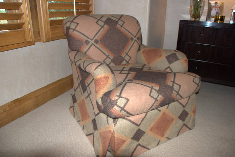 Chair Upholstered in Neisha Crosland Fabric