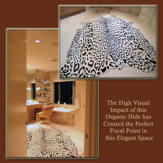 Impact of a Hide Rug in a Bathroom