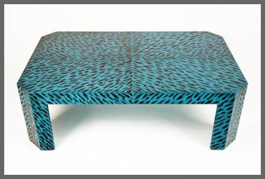 Blue Tortoise Coffee Table from Harbinger.