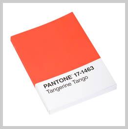 pantone book in tangerine tango