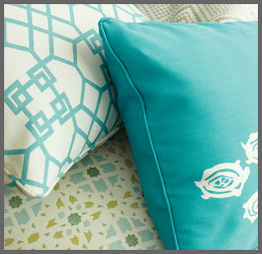bright accent pillows from Kravet