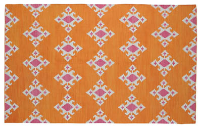 Udaipur Orange Indian Rug by The Rug Company.